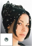 Haarpiercing - Swarovski Kristalle - CRYSTAL